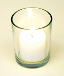 Clear Glass Votive Candle Holder - 2 sizes