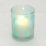 Cheerful Blue Dot Votive Candle Holder