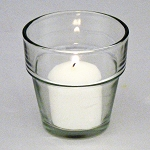 Clear Glass Garden Flowerpot Votive Holder