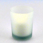 Frosted White Votive Holder