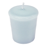 Ice Blue Votive Candle - 15 hr, Unscented, Flared