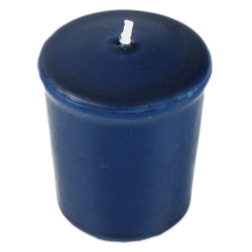 navy blue 15 hour unscented votive candle