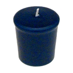 Sapphire Blue Votive Candle - 15 hr, Unscented, Flared