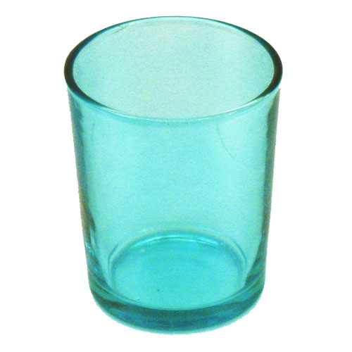 teal votive candle holder