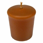 Toffee Brown Votive Candle - 15 hr, Unscented, Flared