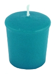 Turquoise/Teal Votive Candle - 15 hr, Unscented, Flared