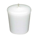 White Votive Candle - 15 hr, Unscented, Flared