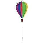 Gay Rainbow Flag Hot Air Balloon Ground Spinner