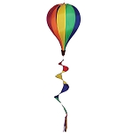 Gay Rainbow Flag Hot Air Balloon Spinner With Tail