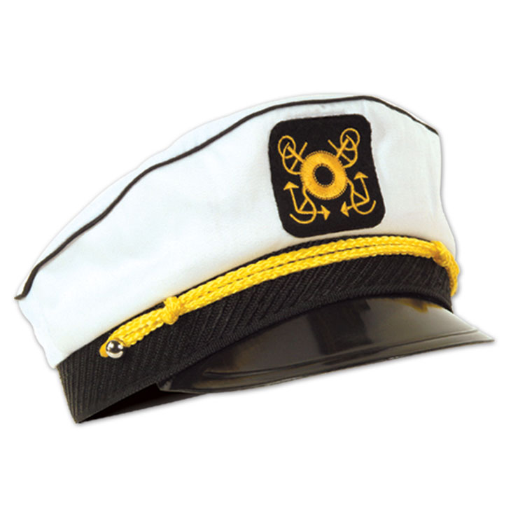 Set sail for intrigue and adventure this Halloween in this poly-cotton Captain's Hat. It fits most adult heads and is made of a comfortable poly/cotton blend/5(4).