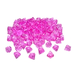 1-inch Fuchsia Multi-Facet Acrylic Diamonds - 100 Count