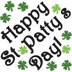 Happy St. Patty's Day Window Gel Clings
