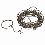 12-Foot Simulated Barbed Wire - Rusty or Silver