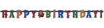 Celebration Streamers Happy Birthday Banner **CLEARANCE**