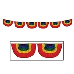 9-Foot Gay Rainbow Mini-Swag Bunting Flags