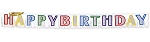 Large Glitter Happy Birthday Banner