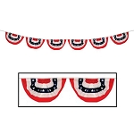 9-Foot Stars & Stripes Mini-Swag Bunting Flags