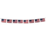 USA Stars & Stripes Mini Flags Banner