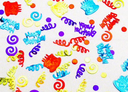 Cakes & Streamers Metallic Birthday Confetti  Party Decorations ...