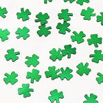 Green Metallic Shamrock Confetti - 3/8