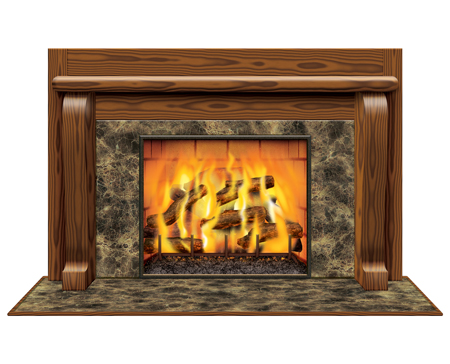 Instant View Fireplace Prop | Winter Holiday Party Decorations