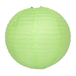 Apple Green Round Paper Lantern (1) - 2 sizes