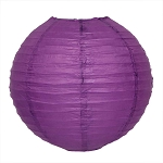Purple Round Paper Lantern (1) - 3 sizes