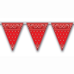 Country Western Red Bandana Pennants