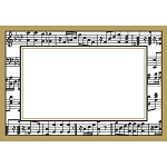 Embossed Musical Score Place Cards (8)