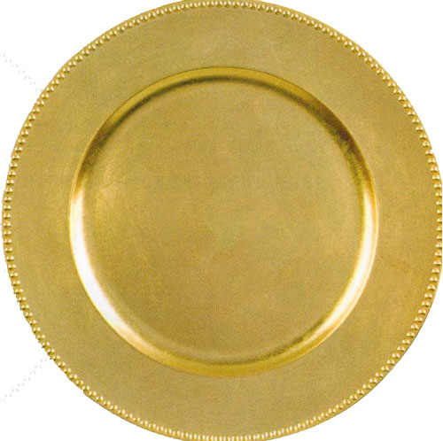 14quot Round Gold Acrylic Charger With Beaded Edge Dinner  : ChargerGold from www.partyswizzle.com size 500 x 498 jpeg 48kB