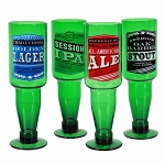 Beer Bottle Green Glass Stemware (4)
