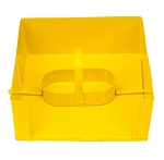 Yellow Enamel Salt & Pepper Napkin Holder