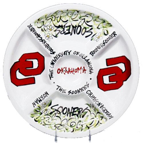 "University Of Oklahoma Sooners 14.5"" Ceramic Veggie"
