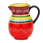Ceramic La Cocina Fiesta Striped Pitcher