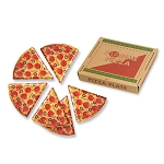 Supreme Pizza Slice Melamine Plates in Box (6)