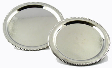 Two Silver Colored Serving Trays | Party Planning Ideas, Advice
