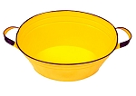Yellow Enamel Oval Beverage Tub - 19