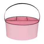 Pastel Pink Enamel Oval Utensil Holder - 11