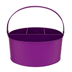 Purple Enamel Oval Utensil Holder - 11