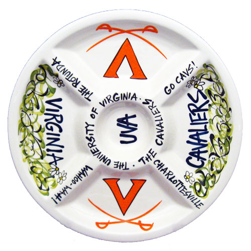 "University Of Virginia Cavaliers 14.5"" Ceramic Veggie"