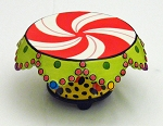 Leopard Base & Peppermint Top Cake Stand