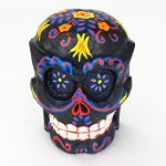 Life-Size Day of the Dead Painted Wood Skull - 3 styles