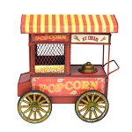 Old-Fashioned Popcorn & Ice Cream Cart Centerpiece