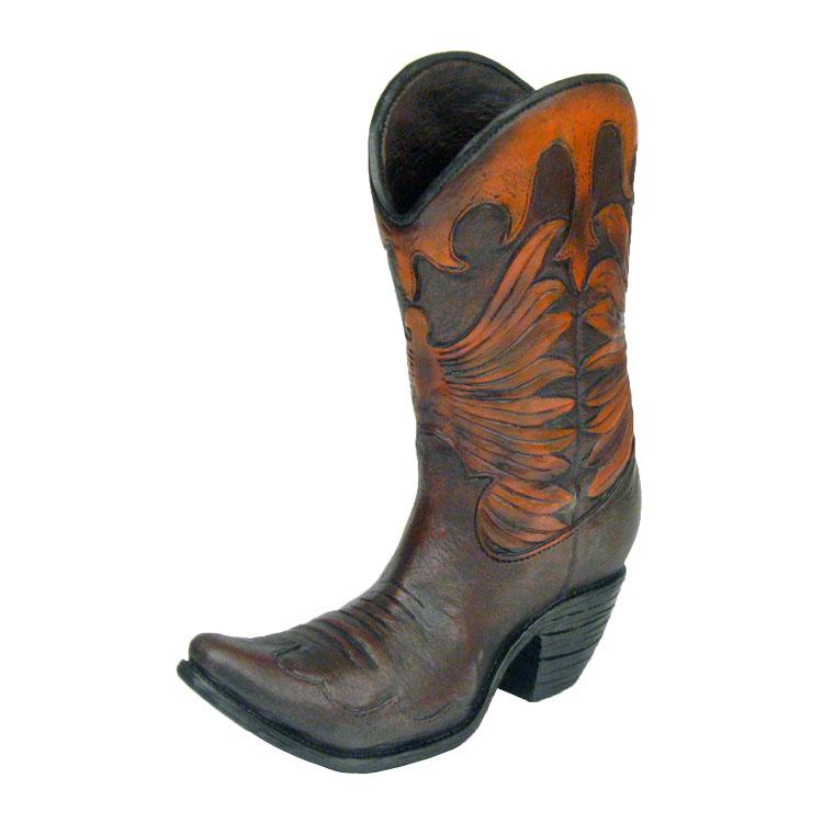 """11"""" Decorative Cowboy Boot Vase & Centerpiece"""