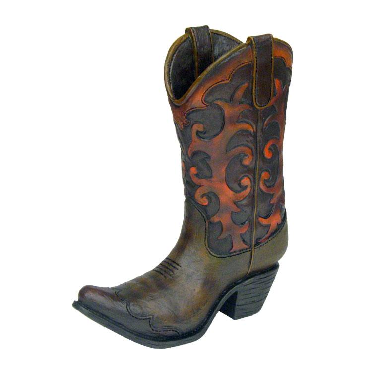 Vase11BootScroll - Cowboy Boot Vase Wedding