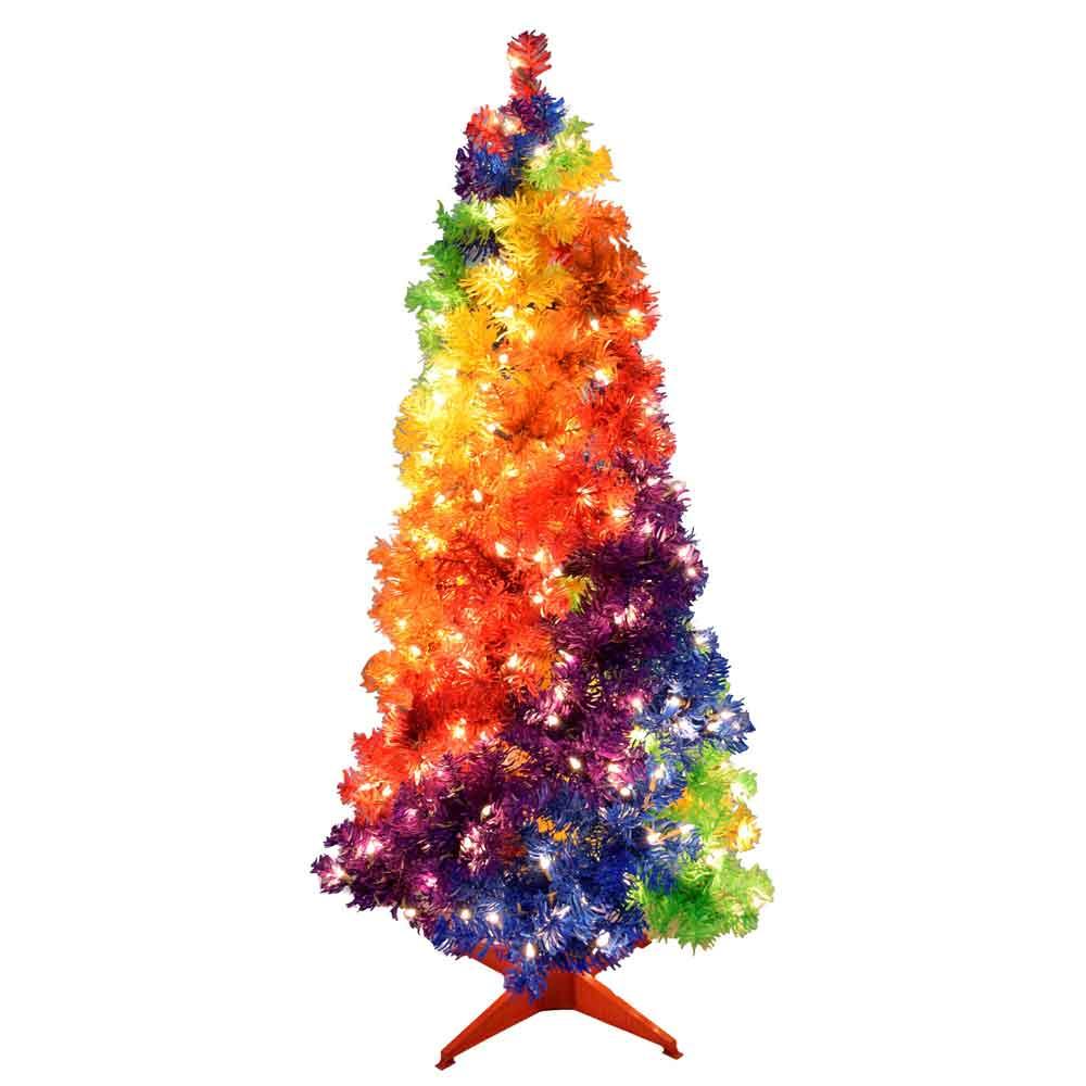 4 Foot Gay Rainbow Pride Joy Christmas Tree Theme
