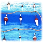 8-Foot Wood Fishing Bobber Garland