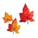 Autumn Leaves in Assorted Sizes (8) - Maple or Oak