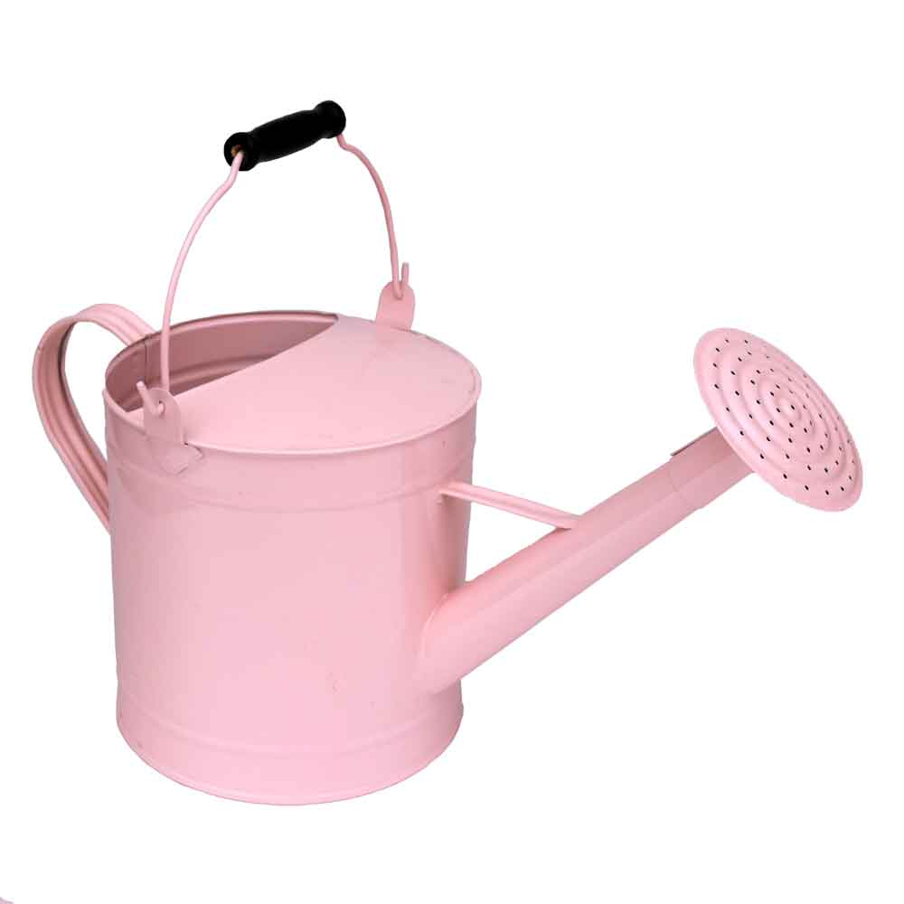 pastel pink enamel watering can vase centerpiece