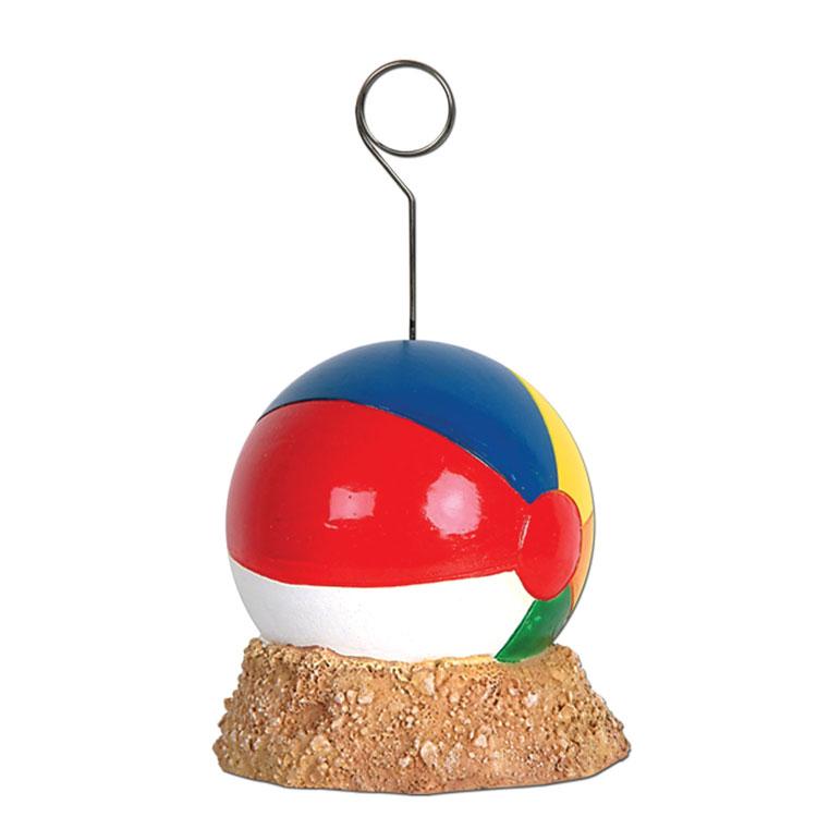 Beach ball sign holder placecard photo balloon